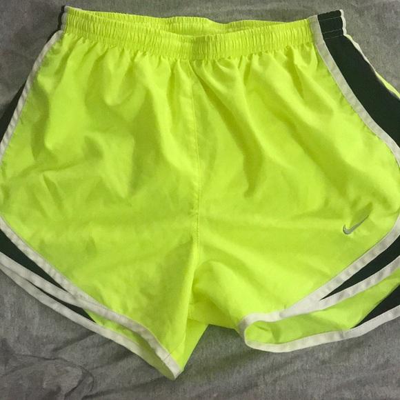 Nike Pants - Nike neon yellow running shorts!